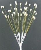 Pearl Tear Drop With Gold Wire x 6 Bunches Of 12 Stems