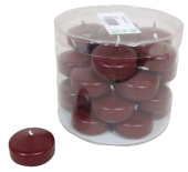 Floating Candle small 34 Dark Red