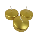 Floating Candle Small Gold x 8pcs