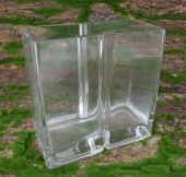 Square Two Section Glass NADOS  h 21 x 20 x 10 cm