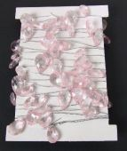 Crystal Garland on Silver Wire Pink-Silver