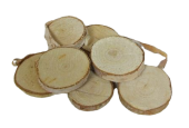 Birch Woodslices Round x 92 pcs - App 3 - 5cm Diameter