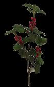 70cm Holly Spray Green W/Berries