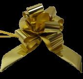 50mm Gold Pullbow Metallic Pk 20s