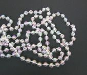 8mm x 10mtr Pearl Bead Chain Iridescent -Clear