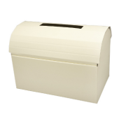 Ivory Silk Post Box 250 x 250 x 500mm