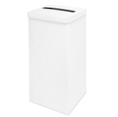 White Silk Post Box 250 x 250 x 500mm