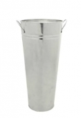 45 x 14 x 24cm Galvanised Vase W/Ears