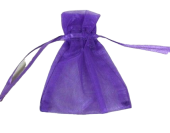 Small Organza Pouch Purple 10 x 7.5cm x 10 Pcs