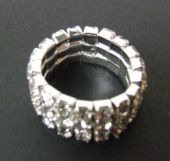 Diamante Wedding Ring Silver