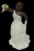 Resin Intchange Blk-African Bride 15cm