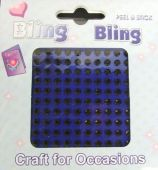 4mm Bling Bling Stick On Diamantes Black x 100