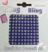 4mm Bling Bling Stick On Diamantes Iridescent-Clear x 100