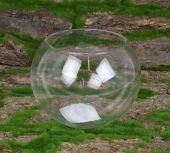 15 x 12cm Glass Bubble Bowl