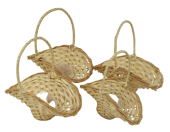 Set Of 4 Willow Bridesmaid Basket