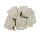 Foam Colourfast Cottage Rose x 6 White