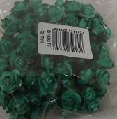Mini Open Rose x 12 Stems x 6 Bunches Turquoise