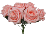 Foam Colourfast Cottage Rose x 6 Peach
