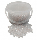 1.6kg Bucket Clear Small Acrylic Stones