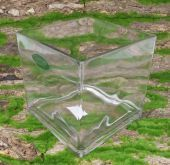 18 x 18cm Glass Cube