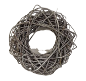 Wreath Willow 40cm Stone Washed White