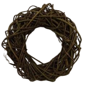 Willow Wreath 30cm Natural