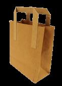 Carrier Bag Brown Paper 7 x 10.5 x 8.5inch x 250pcs