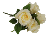 40cm Yellow Open Rose Bouquet x 6 Heads