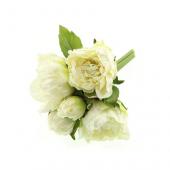 23cm Peony Bouquet -Cream