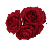 Large Colourfast Foam Rose App 8cm x 5 Heads Red