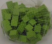 Wooden Cubes 1.5cm Apple Green x 100pcs