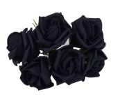 Foam Colourfast Cottage Rose x 6 Navy