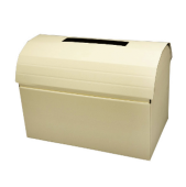 Ivory Silk Chest Post Box 430 x 255 x 300mm