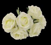 Foam Colourfast Cottage Rose x 6 Lemon