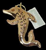 11cm Glittered Dolphin Copper