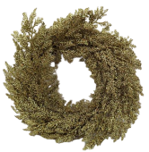 Sparkle Cedar Wreath 45cm Gold