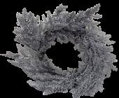 Sparkle Cedar Wreath 45cm Silver