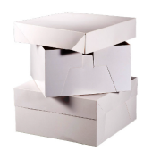 "12"" Square Cake Box White 304 x 304 x 152mm x 10pcs"