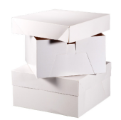 "10"" Cake Square Box White 254 x 254 x 152mm x 10pcs"