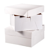 "8"" Cake Square Box White 200 x 200 x 120mm x 10pcs"