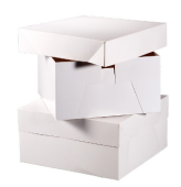 "14"" Square Cake Box White x 10"