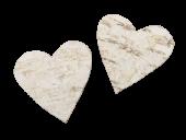 Loose Hearts Natural 3.5cm x 60pcs