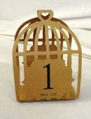 Table Numbers 1-15 Lazer Bird Cage Brown/Kraft