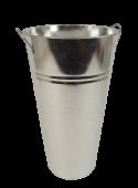 36 x 21cm Galvanised Vase W/Ears