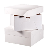 "6"" Cake Square Box White x 10pcs"