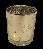 Medium Gold Glass Candle Holder 70 x 90mm