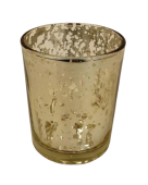 Small Gold Glass Candle Holder 70 x 90mm