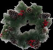 "16"" Cone/Berry Wreath"