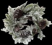 """24"""" Wreath Pine W/Snow"""