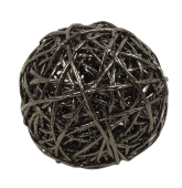 pc. 1 paper rope ball d.champagne Ø8 cm